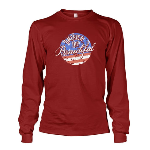 Image of America The Beautiful Long Sleeve - Cardinal Red / S - Long Sleeves
