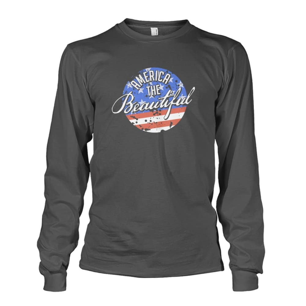America The Beautiful Long Sleeve - Charcoal / S - Long Sleeves
