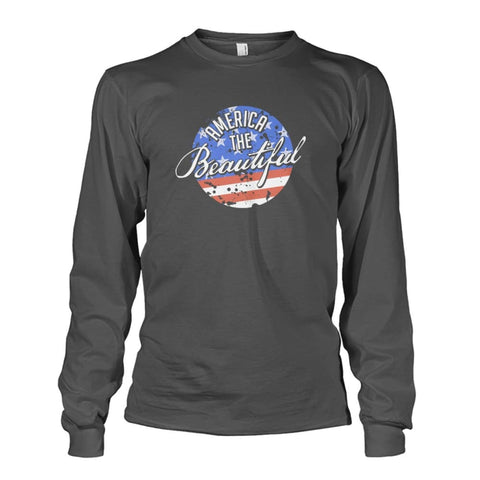 Image of America The Beautiful Long Sleeve - Charcoal / S - Long Sleeves