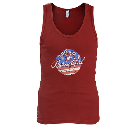 Image of America The Beautiful Tank Top - Cardinal Red / S - Tank Tops