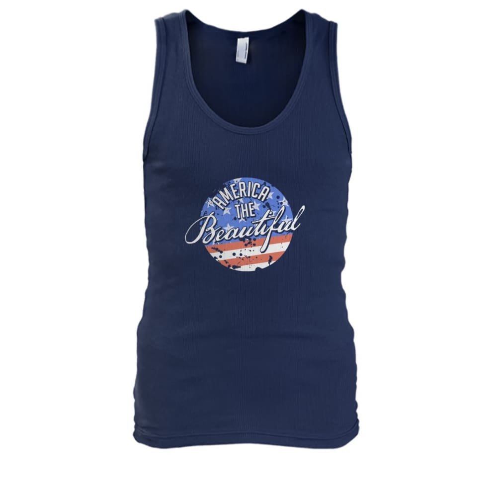 America The Beautiful Tank Top - Navy / S - Tank Tops
