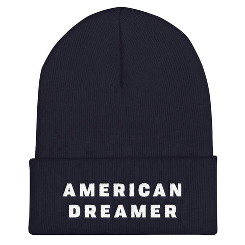 Image of American Dreamer Cuffed Beanie - Navy