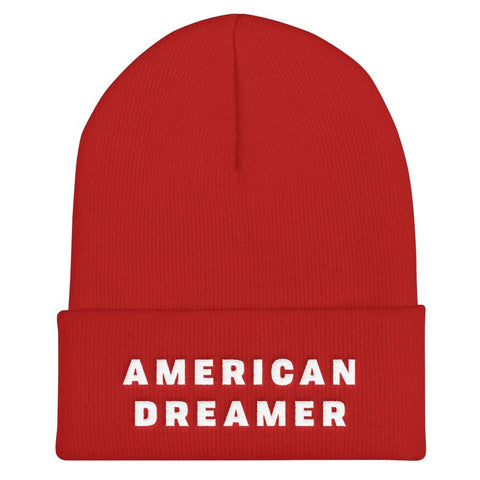 Image of American Dreamer Cuffed Beanie - Red
