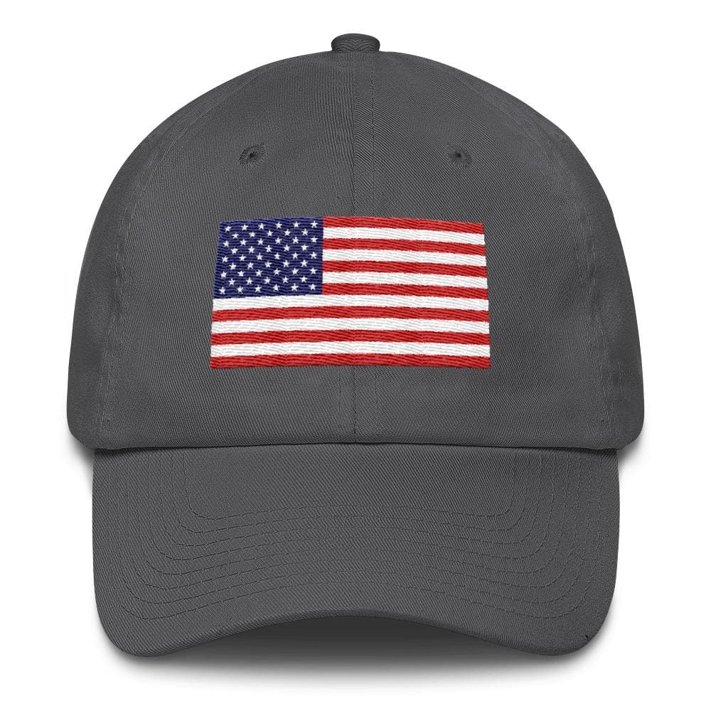 American Flag *MADE IN THE USA* Hat - Charcoal