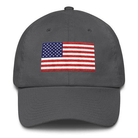 Image of American Flag *MADE IN THE USA* Hat - Charcoal