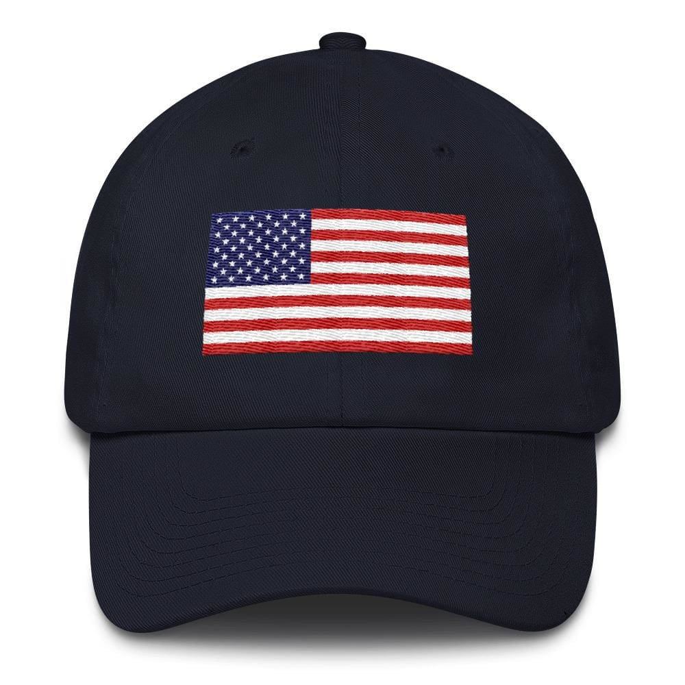 American Flag *MADE IN THE USA* Hat - Navy