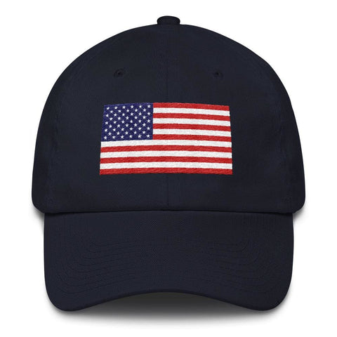 American Flag *MADE IN THE USA* Hat - White