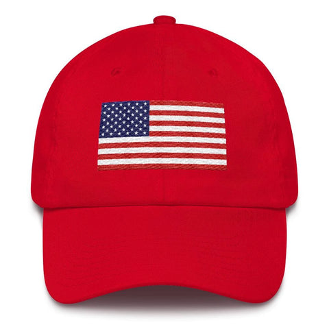Image of American Flag *MADE IN THE USA* Hat - Red