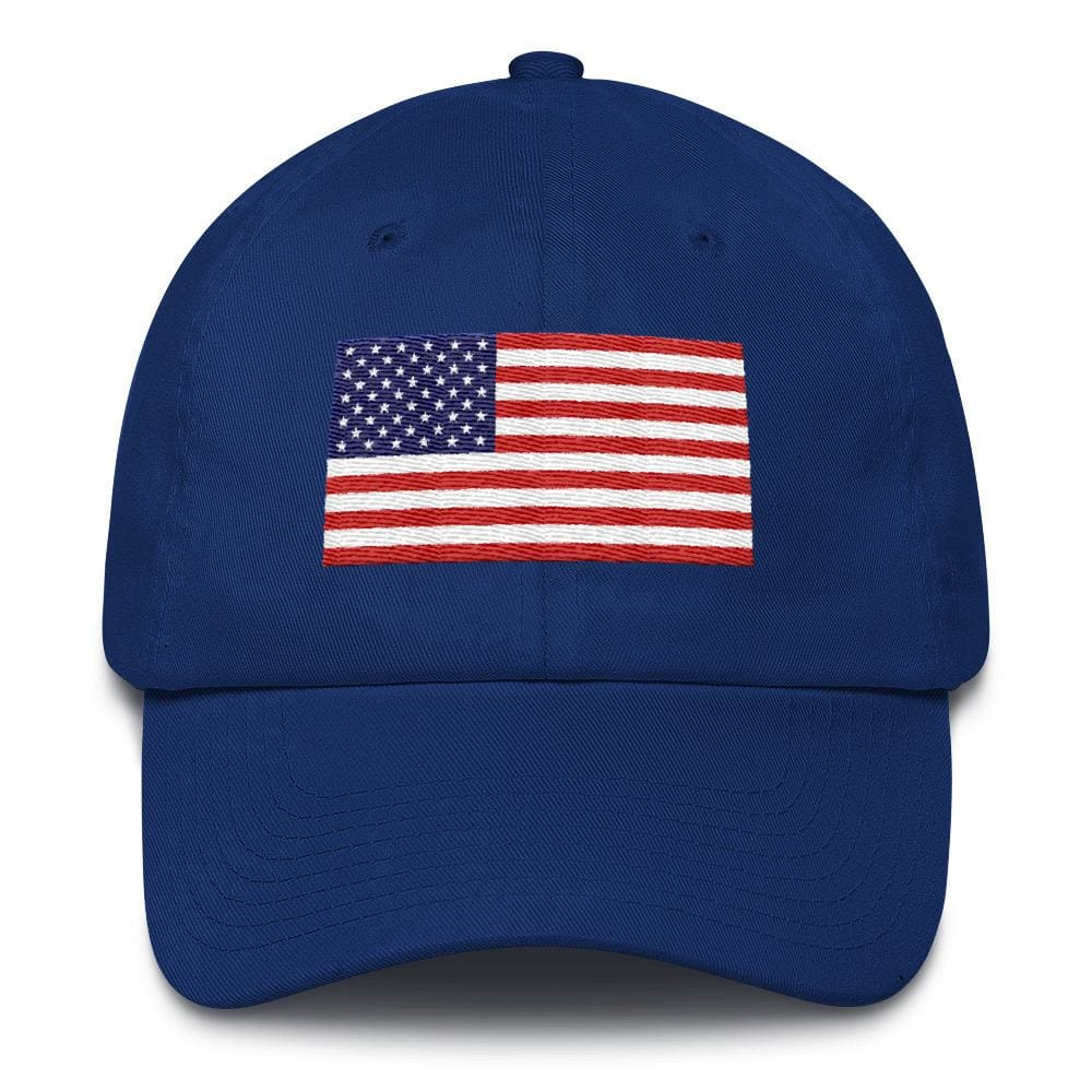American Flag *MADE IN THE USA* Hat - Royal Blue