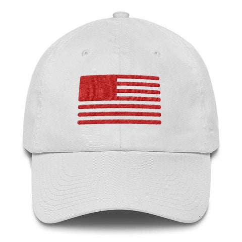 American Flag Solid *MADE IN THE USA* Hat - White