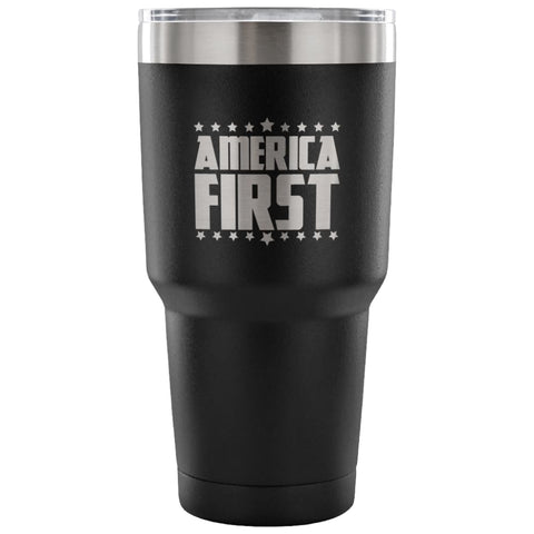 American Greatness AMERICA FIRST Tumbler (30oz) - 30 Ounce Vacuum Tumbler - Red - Tumblers