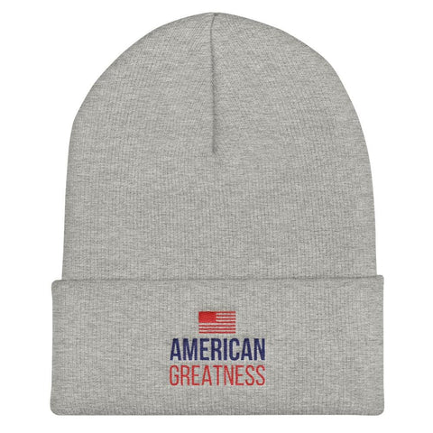 American Greatness Cuffed Beanie - Heather Grey