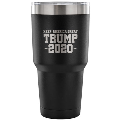 Image of American Greatness KEEP AMERICA GREAT TRUMP 2020 Tumbler (30oz) - 30 Ounce Vacuum Tumbler - Black - Tumblers