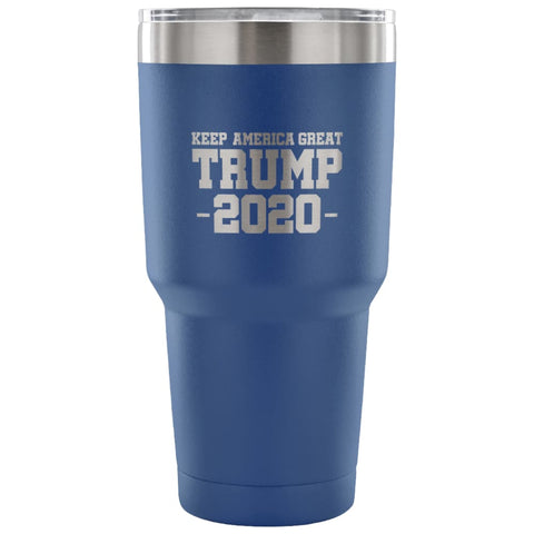 American Greatness KEEP AMERICA GREAT TRUMP 2020 Tumbler (30oz) - 30 Ounce Vacuum Tumbler - Blue - Tumblers
