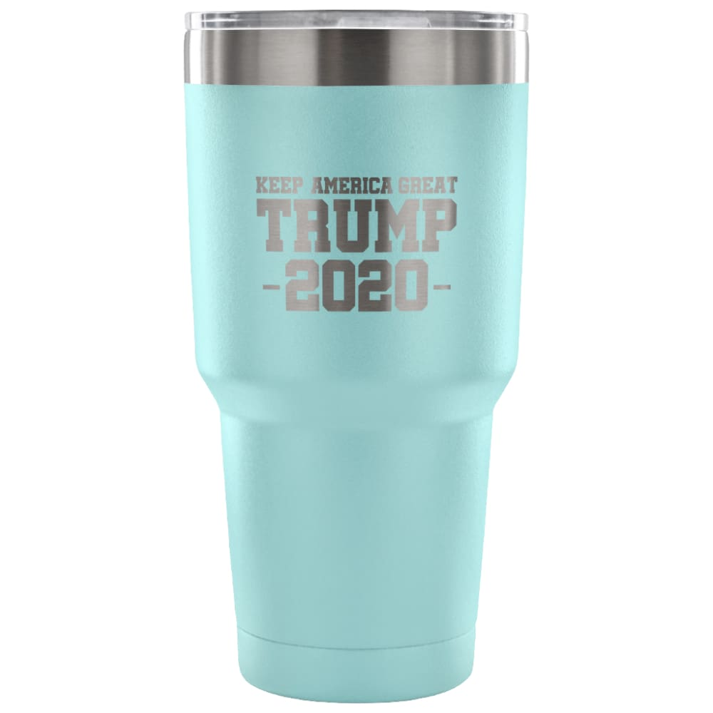 American Greatness KEEP AMERICA GREAT TRUMP 2020 Tumbler (30oz) - 30 Ounce Vacuum Tumbler - Light Blue - Tumblers