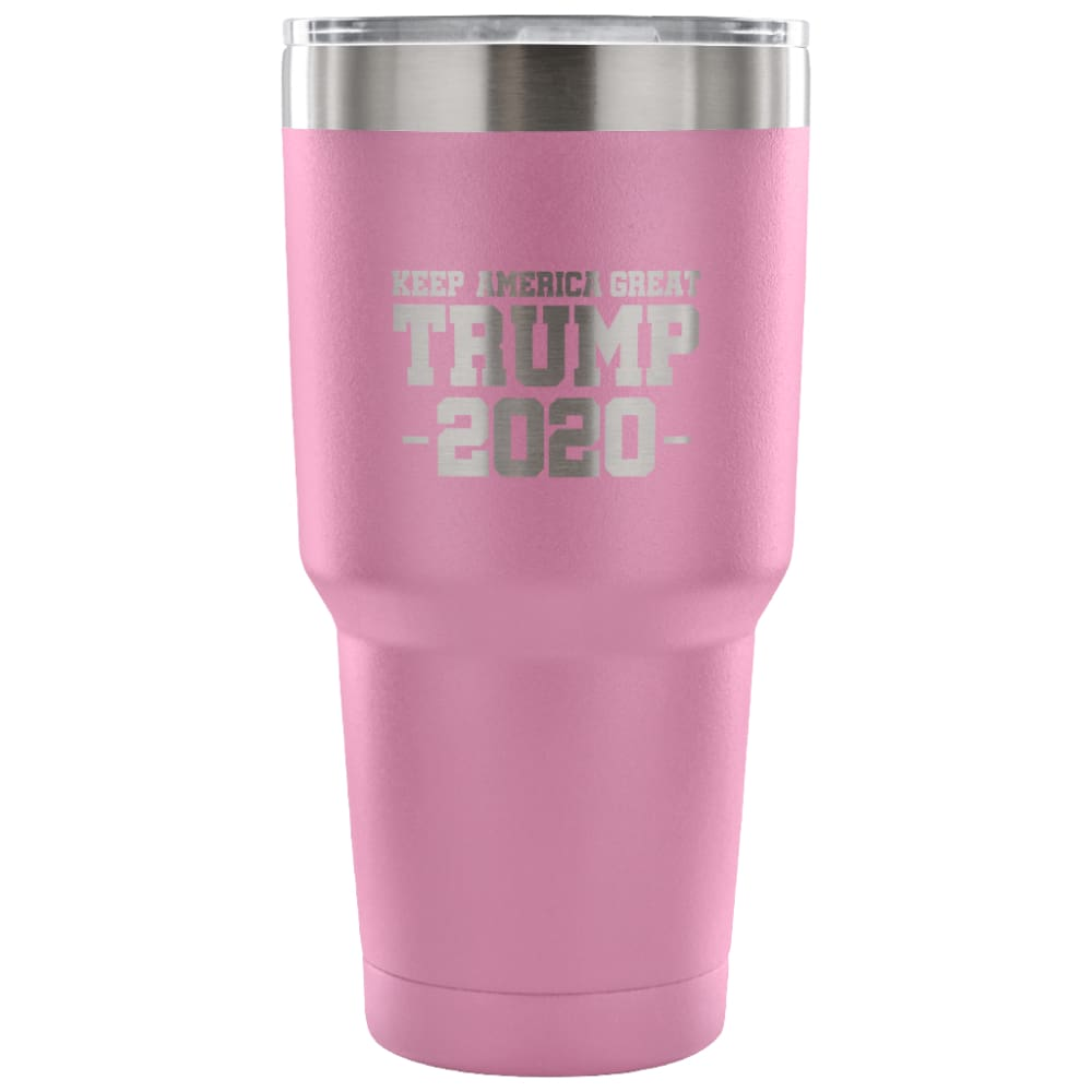 American Greatness KEEP AMERICA GREAT TRUMP 2020 Tumbler (30oz) - 30 Ounce Vacuum Tumbler - Light Purple - Tumblers