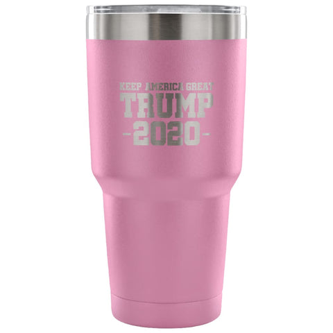 Image of American Greatness KEEP AMERICA GREAT TRUMP 2020 Tumbler (30oz) - 30 Ounce Vacuum Tumbler - Light Purple - Tumblers