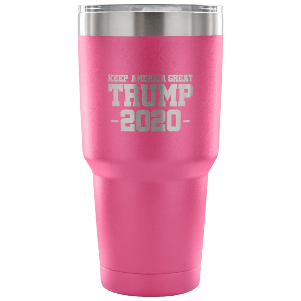 American Greatness KEEP AMERICA GREAT TRUMP 2020 Tumbler (30oz) - 30 Ounce Vacuum Tumbler - Pink - Tumblers