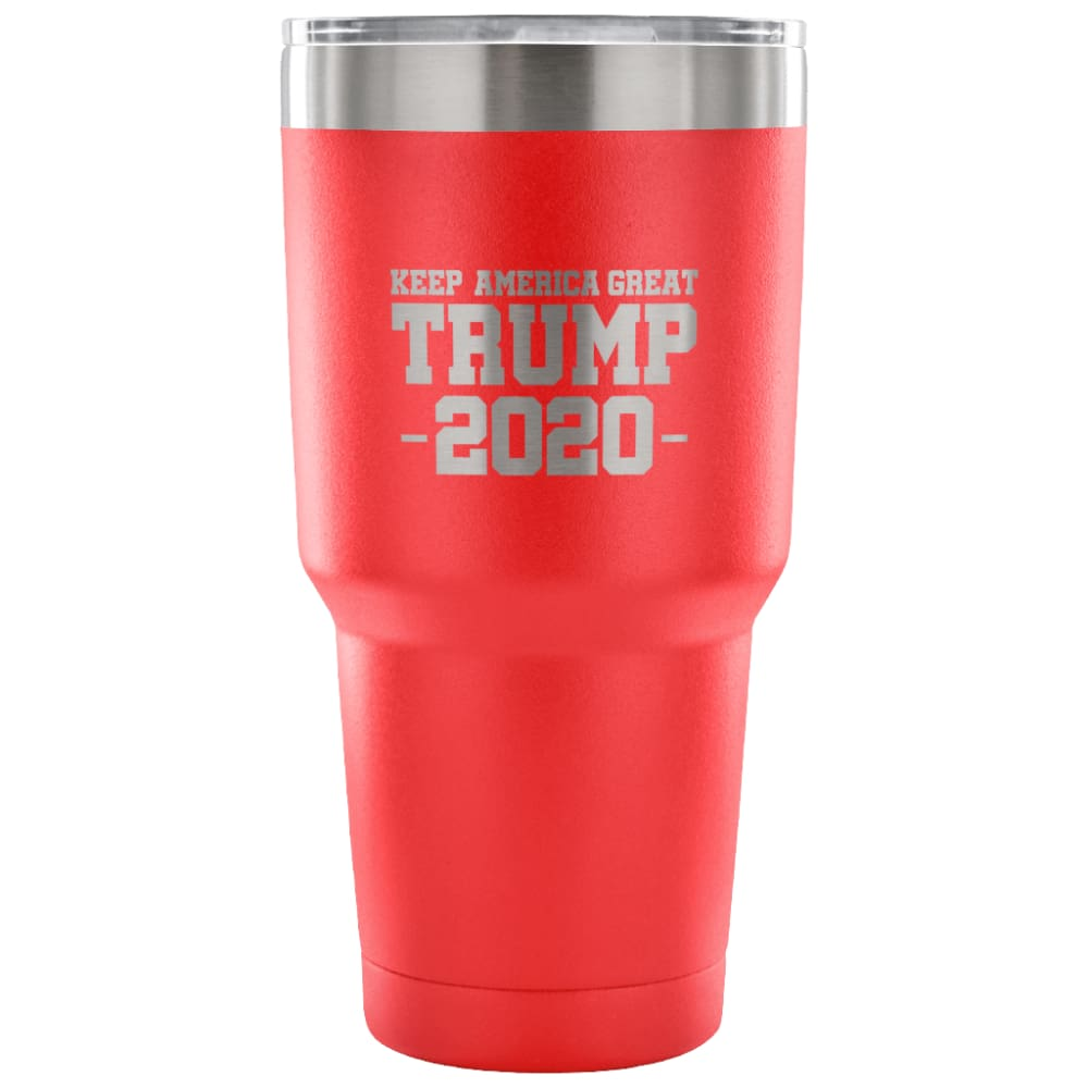 American Greatness KEEP AMERICA GREAT TRUMP 2020 Tumbler (30oz) - 30 Ounce Vacuum Tumbler - Red - Tumblers