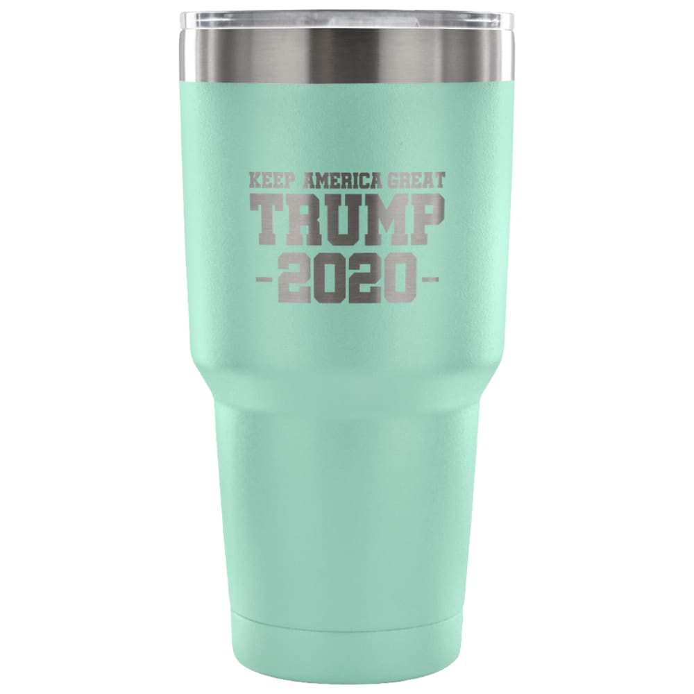 American Greatness KEEP AMERICA GREAT TRUMP 2020 Tumbler (30oz) - 30 Ounce Vacuum Tumbler - Teal - Tumblers