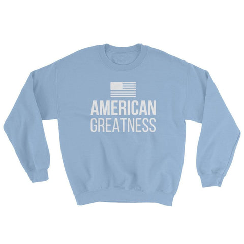 Image of American Greatness Sweatshirt - Light Blue / S