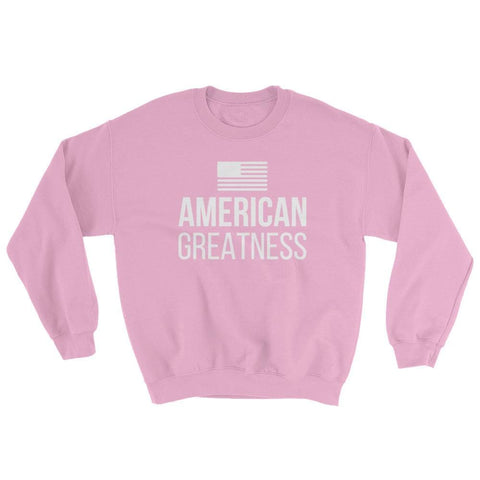Image of American Greatness Sweatshirt - Light Pink / S