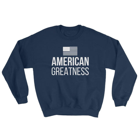 Image of American Greatness Sweatshirt - Navy / S