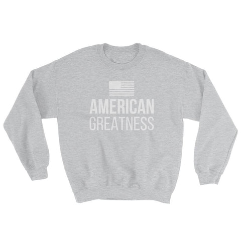 Image of American Greatness Sweatshirt - Sport Grey / S