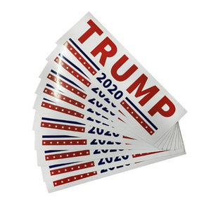 American Greatness TRUMP 2020 Bumper Sticker White (10x)