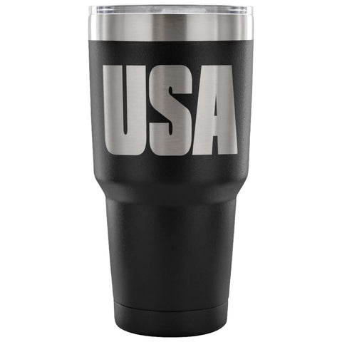 Image of American Greatness USA Tumbler (30oz) - 30 Ounce Vacuum Tumbler - Black - Tumblers
