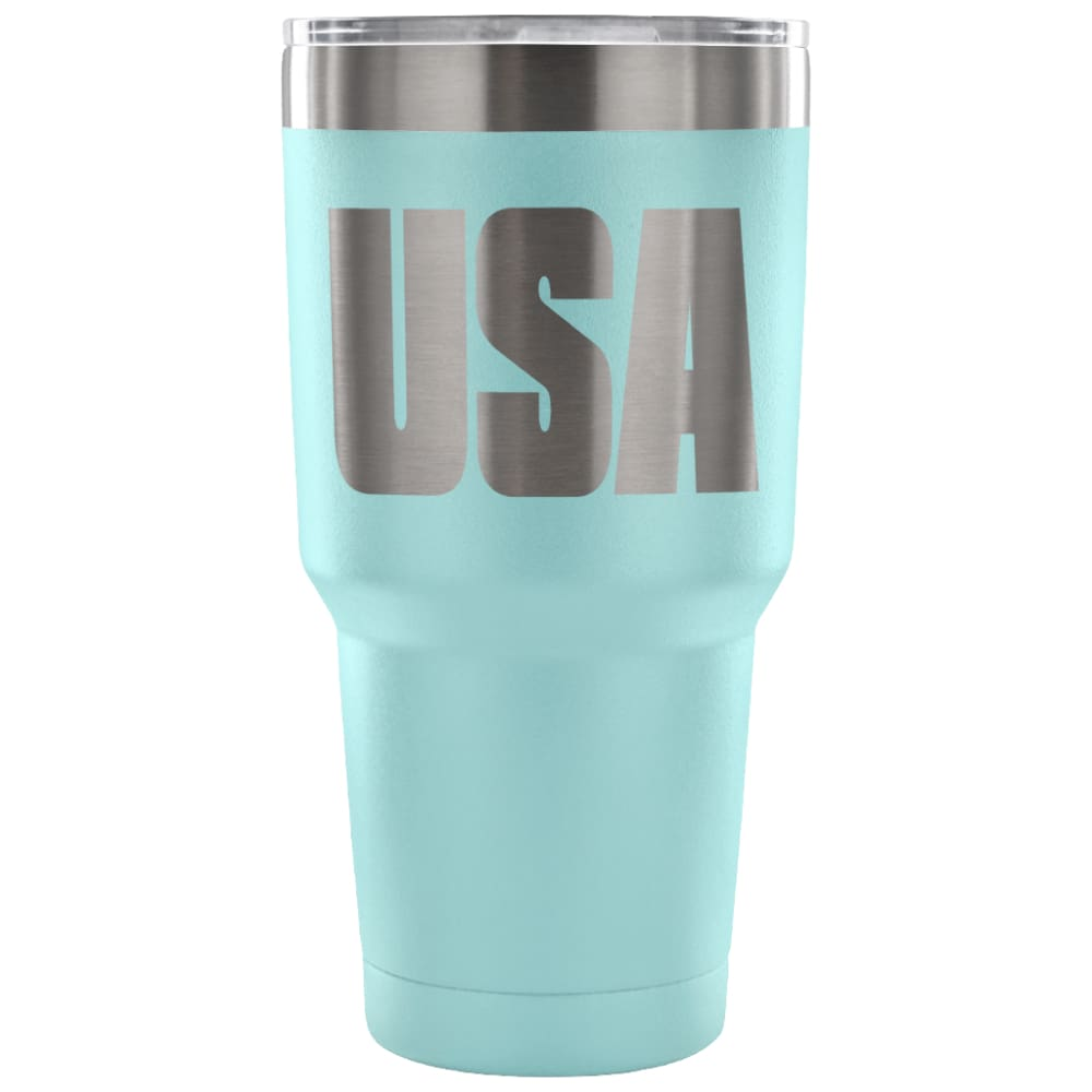 American Greatness USA Tumbler (30oz) - 30 Ounce Vacuum Tumbler - Light Blue - Tumblers