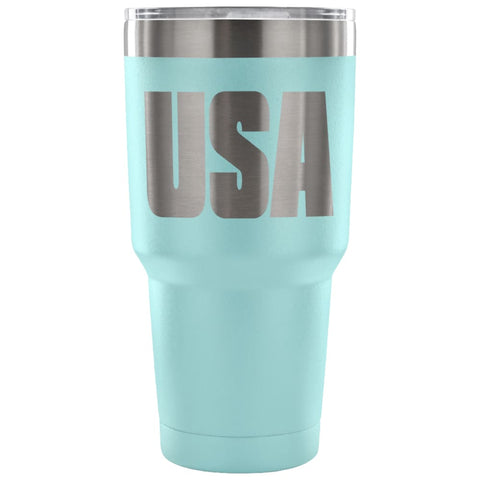 Image of American Greatness USA Tumbler (30oz) - 30 Ounce Vacuum Tumbler - Light Blue - Tumblers