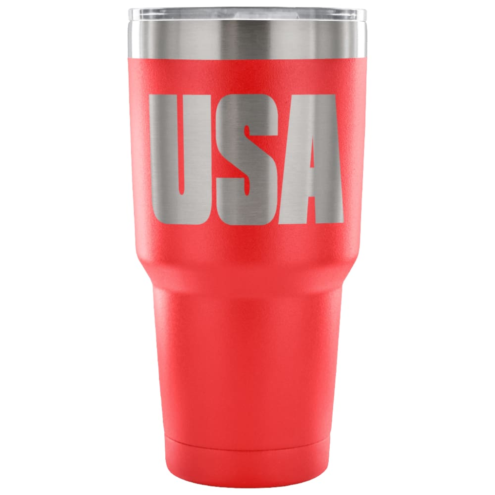 American Greatness USA Tumbler (30oz) - 30 Ounce Vacuum Tumbler - Red - Tumblers
