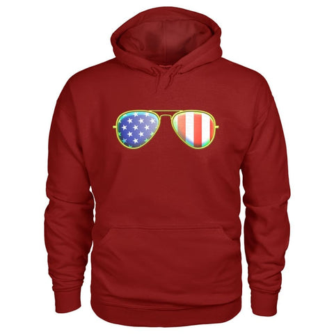 Image of American Sunglasses Hoodie - Cardinal Red / S - Hoodies