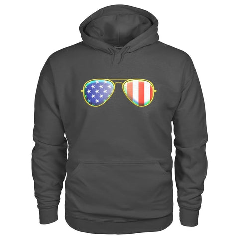Image of American Sunglasses Hoodie - Charcoal / S - Hoodies