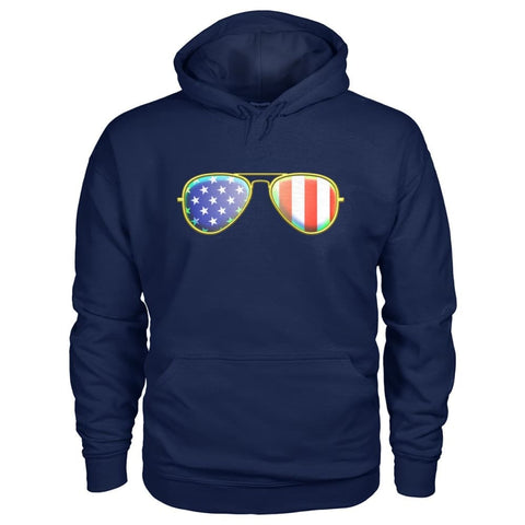 Image of American Sunglasses Hoodie - Navy / S - Hoodies