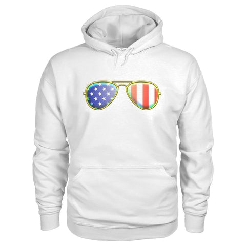 Image of American Sunglasses Hoodie - White / S - Hoodies