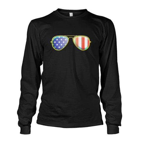 Image of American Sunglasses Long Sleeve - Black / S - Long Sleeves
