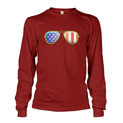 Image of American Sunglasses Long Sleeve - Cardinal Red / S - Long Sleeves
