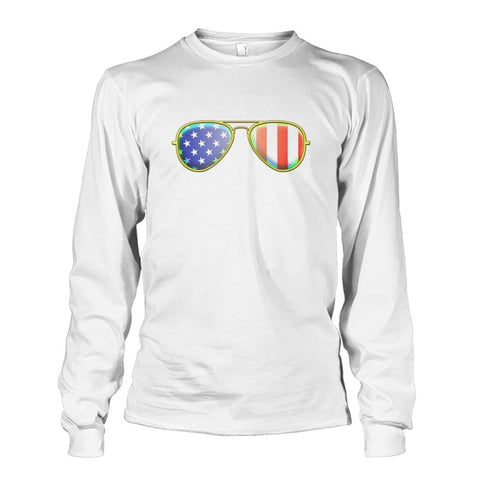 Image of American Sunglasses Long Sleeve - White / S - Long Sleeves