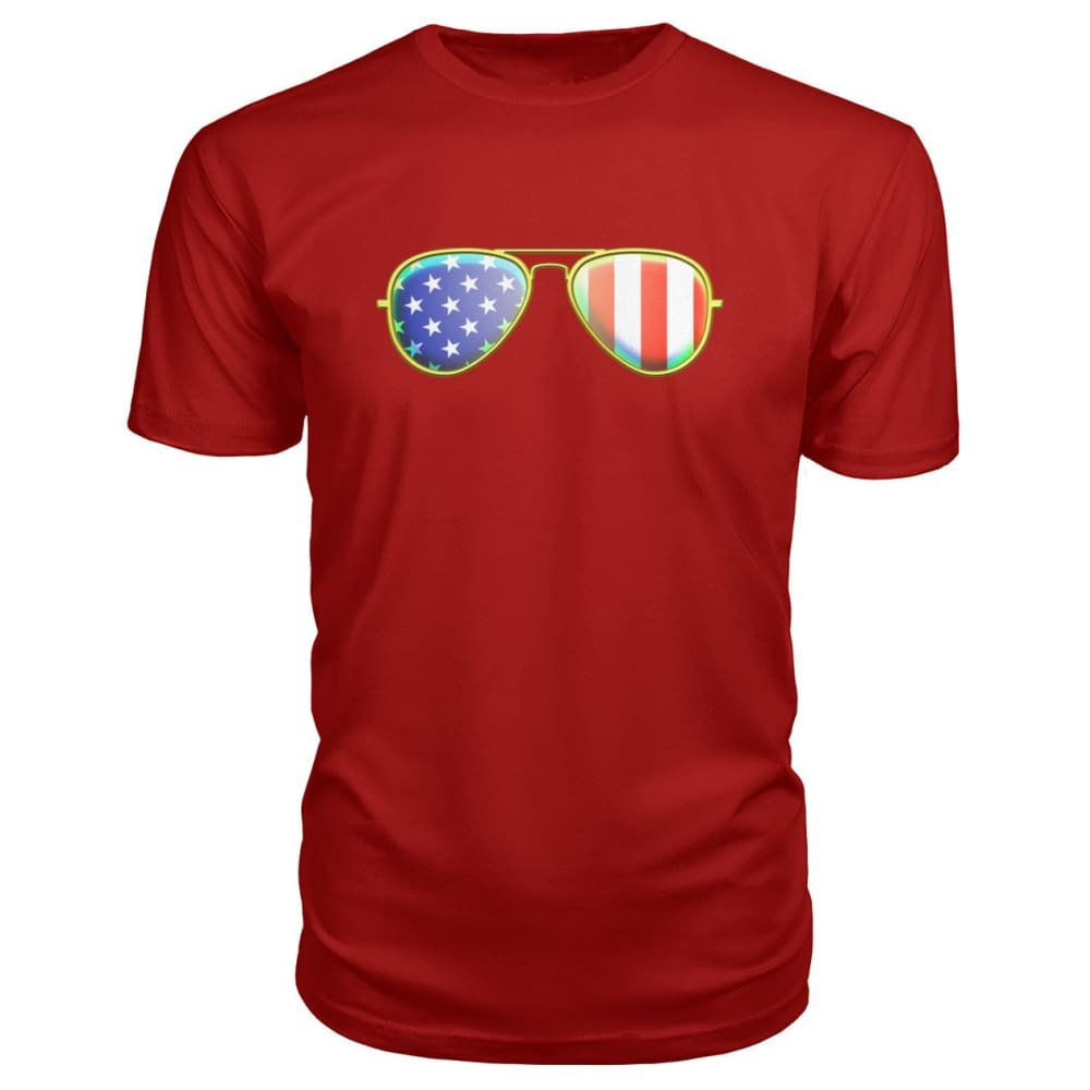 American Sunglasses Premium Tee - Red / S - Short Sleeves