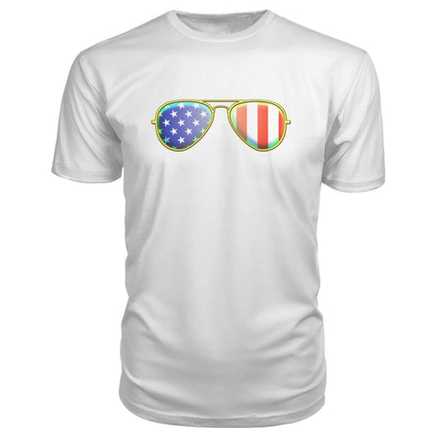Image of American Sunglasses Premium Tee - White / S - Short Sleeves