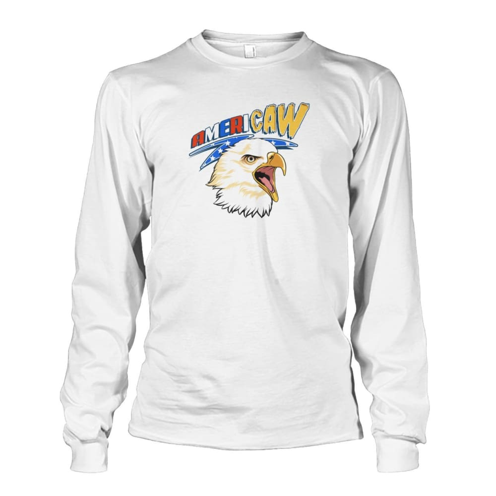 Americaw Long Sleeve - White / S - Long Sleeves
