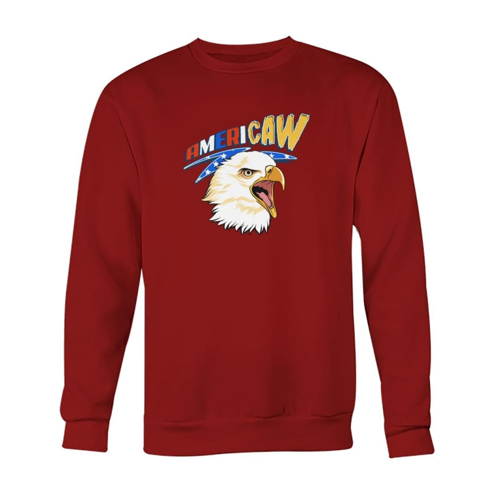 Americaw Sweatshirt - Cardinal Red / S - Long Sleeves