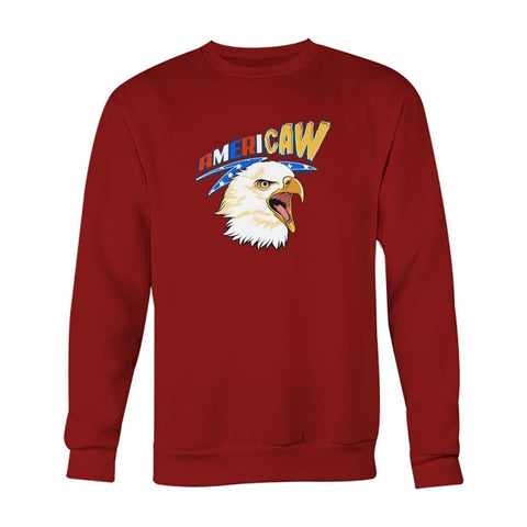 Image of Americaw Sweatshirt - Cardinal Red / S - Long Sleeves