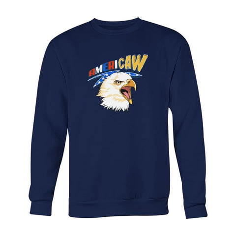 Image of Americaw Sweatshirt - Navy / S - Long Sleeves