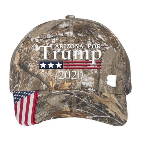 Image of Arizona For Trump 2020 *MADE IN THE USA* Hat - Realtree Edge
