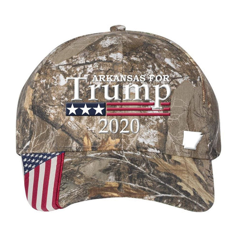 Arkansas For Trump 2020 *MADE IN THE USA* Hat - Realtree Edge