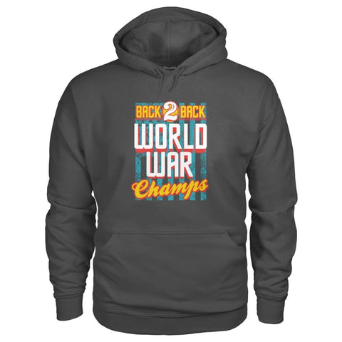 Image of Back To Back Champs Hoodie - Charcoal / S - Hoodies
