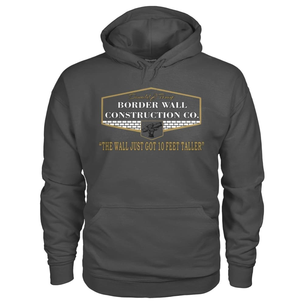 Border Wall Construction Co. Hoodie - Charcoal / S - Hoodies